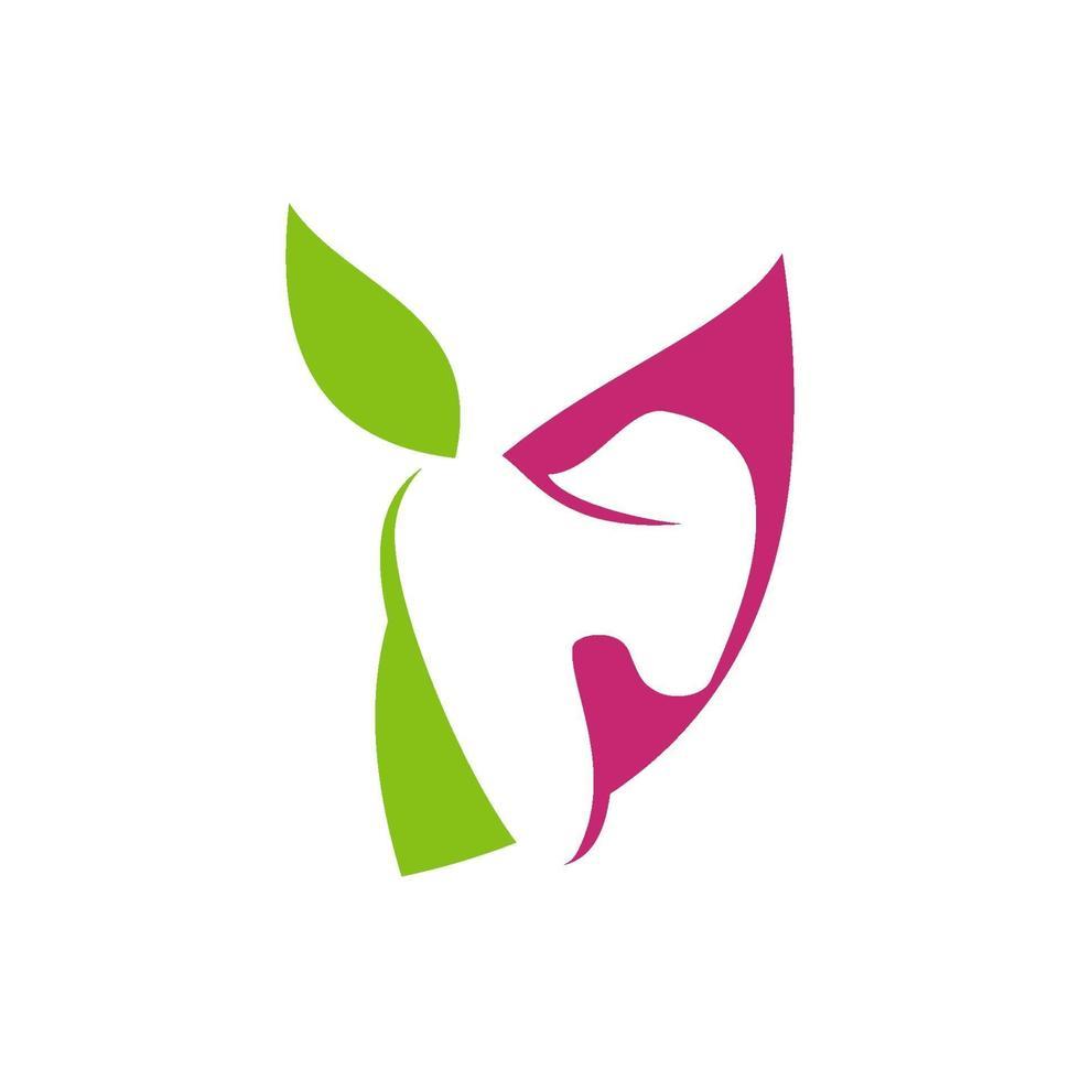 tandklinik logotyp tand abstrakt designmall vektor