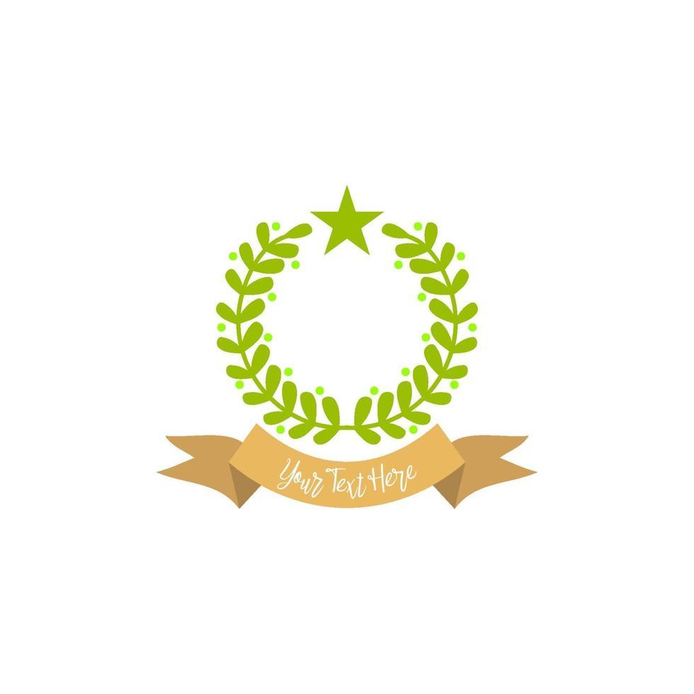 abstrakt emblem tom design mall ram gränsen vektor