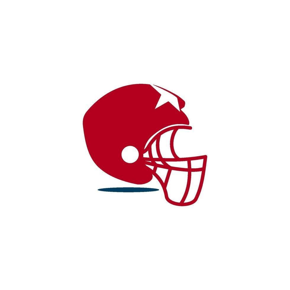 American Football Sport Logo Vorlage Design Emblem vektor