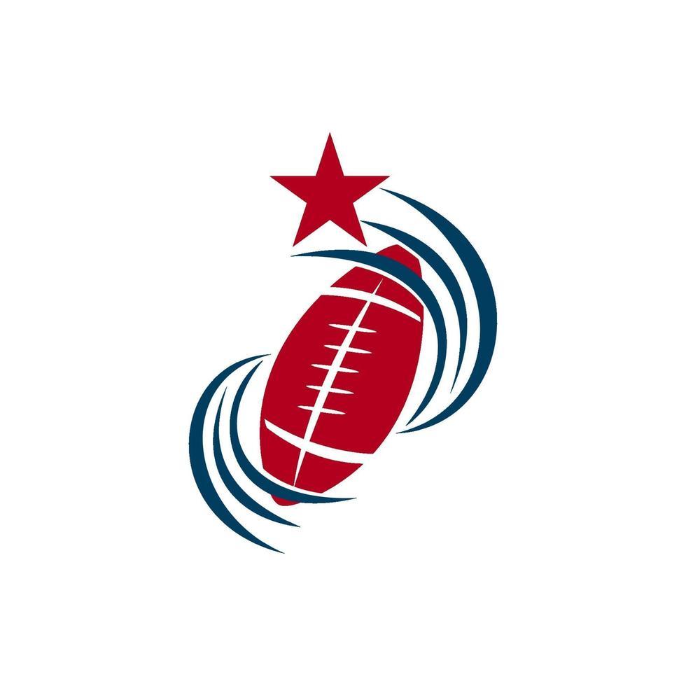 amerikansk fotboll sport logotyp mall design emblem vektor