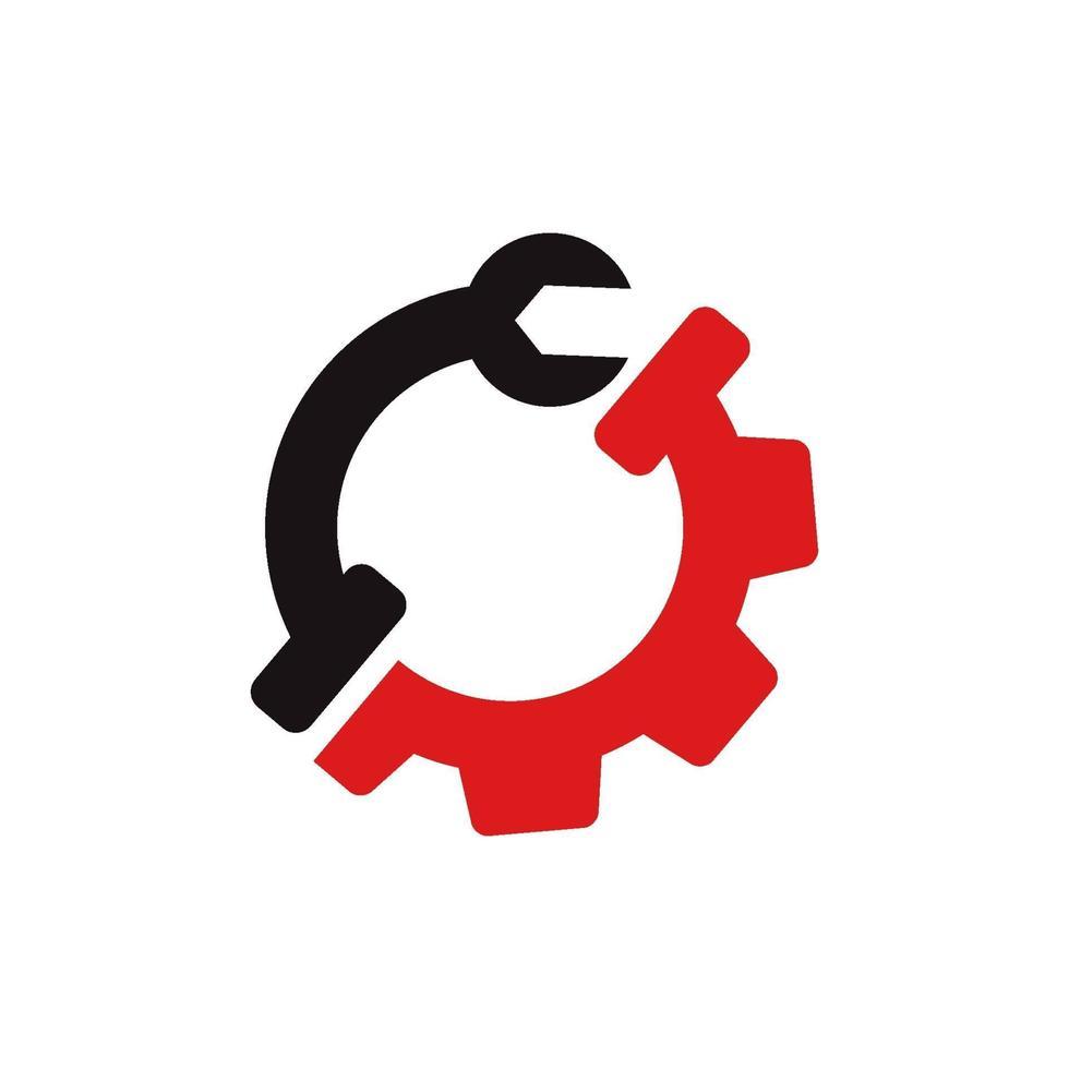 växel skruvmejsel affärsmall ikon vektor
