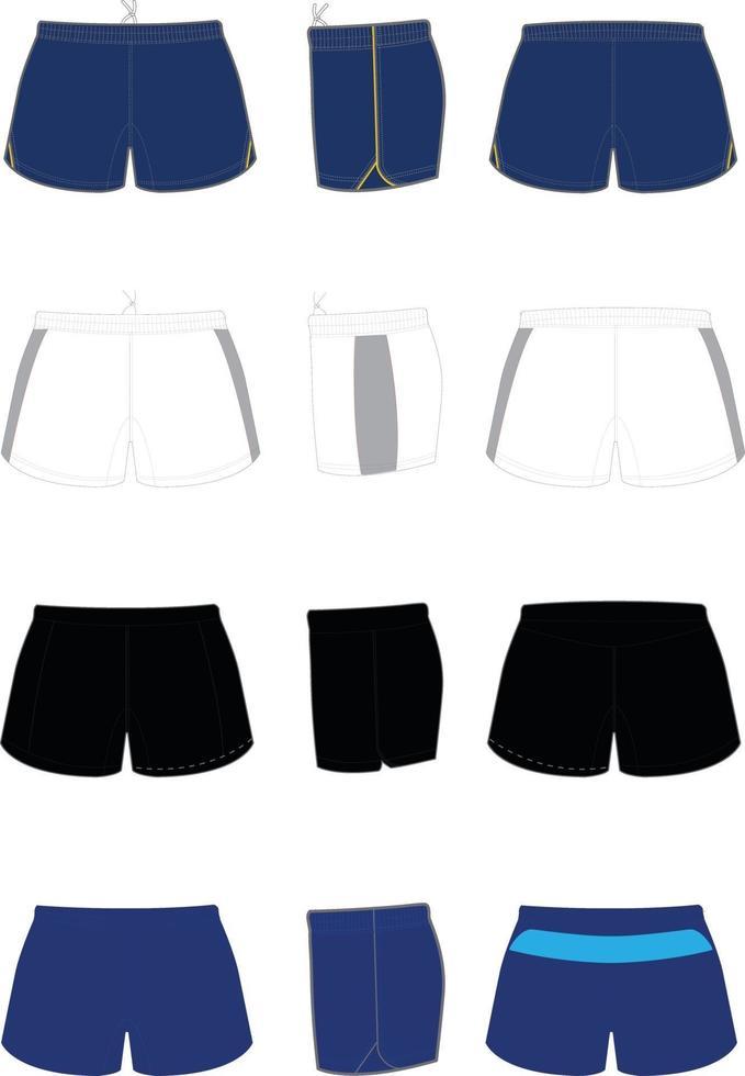 rugby shorts mock ups vektor