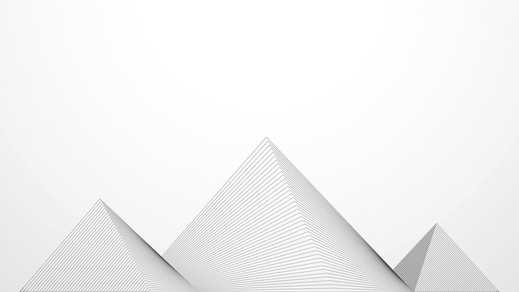 abstrakta pyramidlinjer. futuristisk bakgrund. vektor illustration