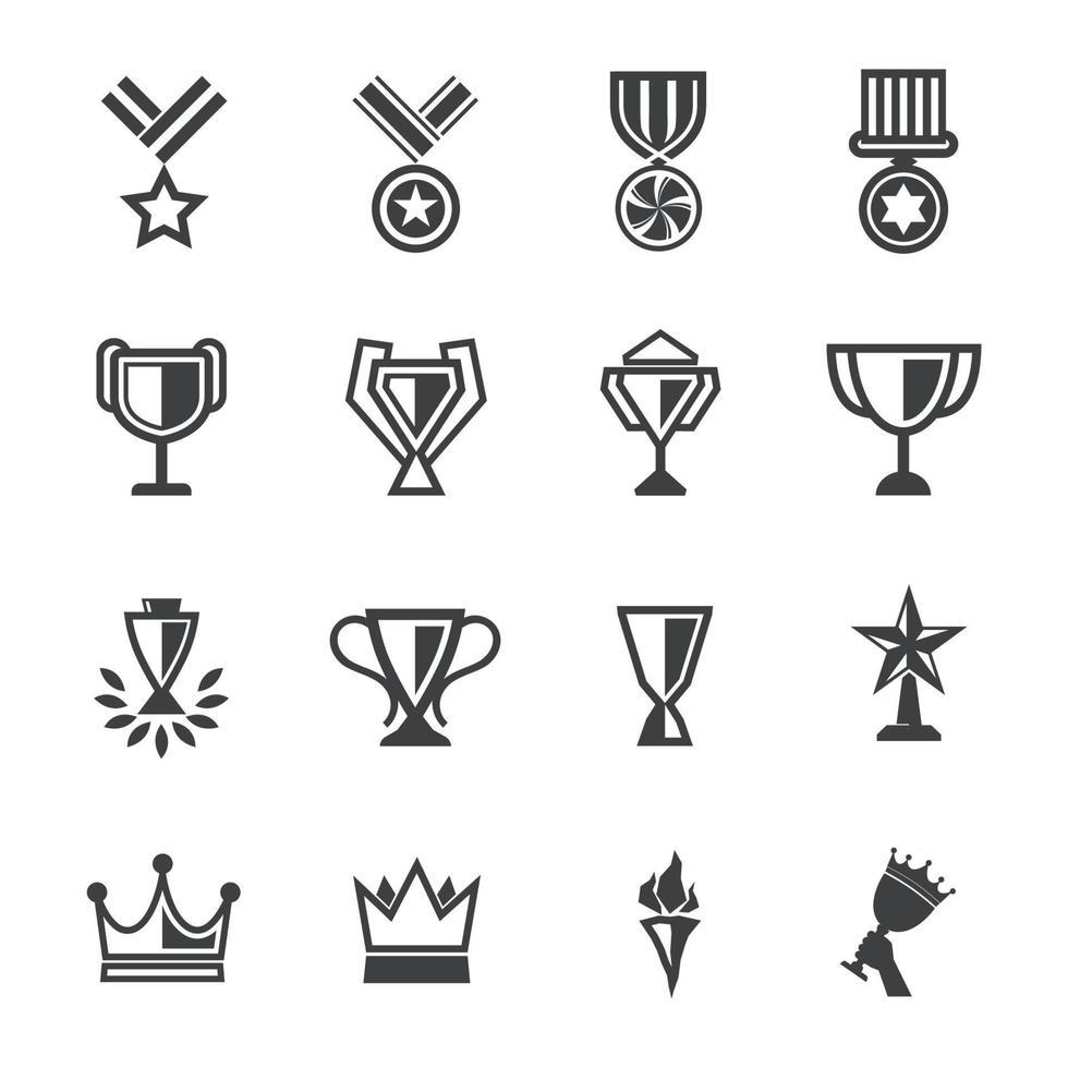 utmärkelser ikoner tecken design. vektor illustration