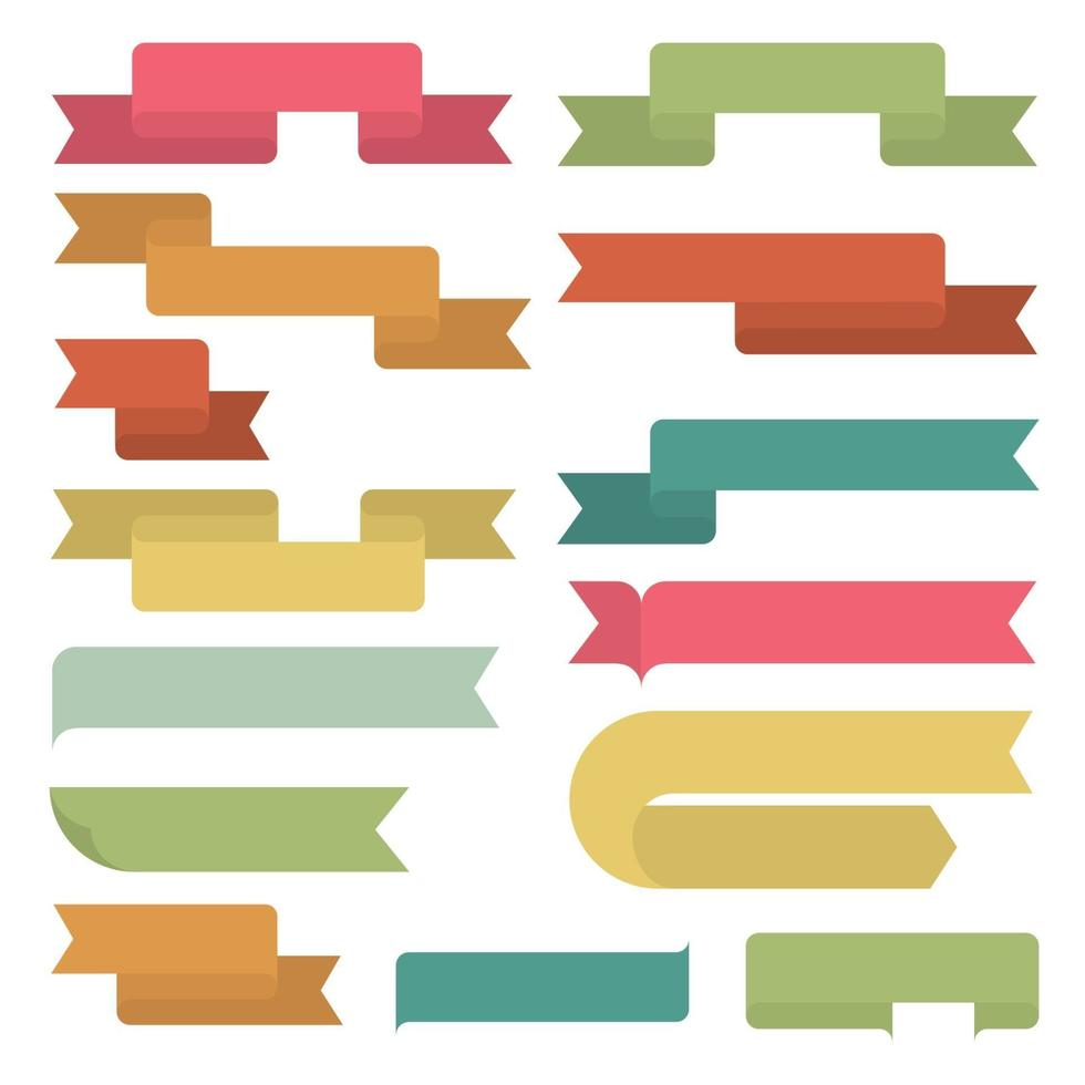 Satz Retro-Bänder. flaches Design. Vektorillustration vektor