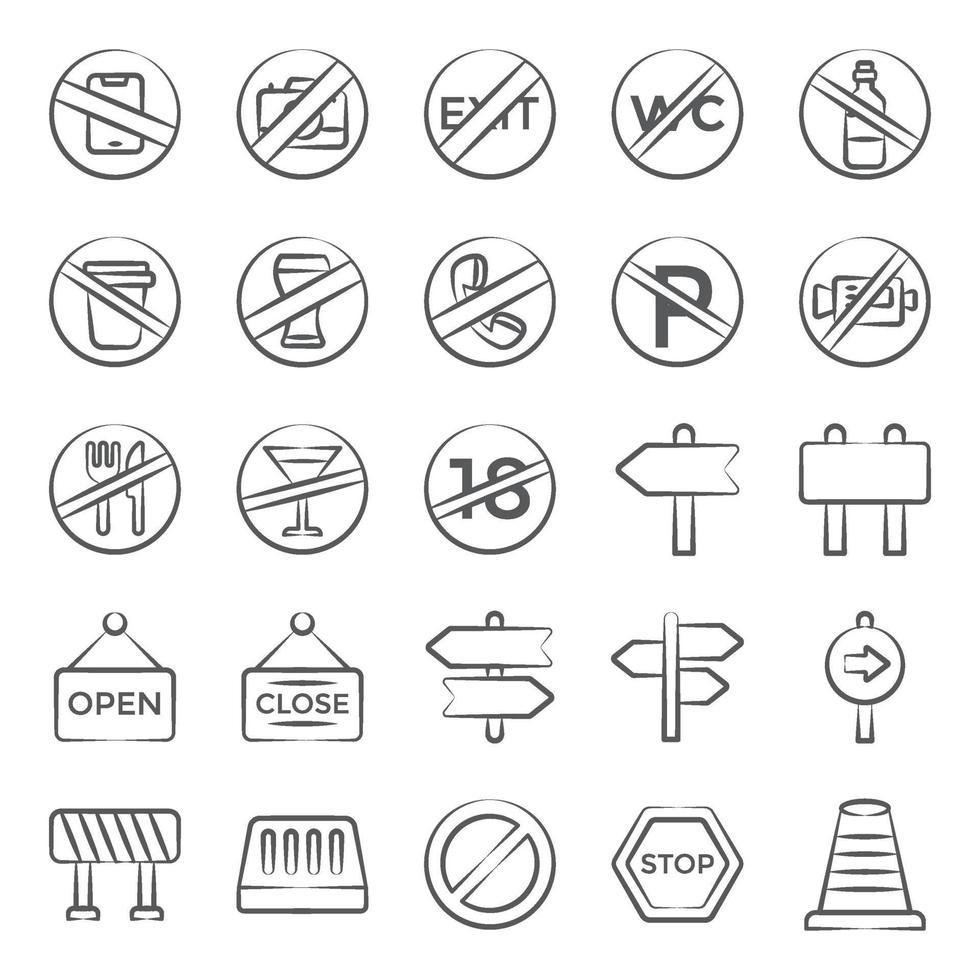 trendiga tecken och symbol vektor