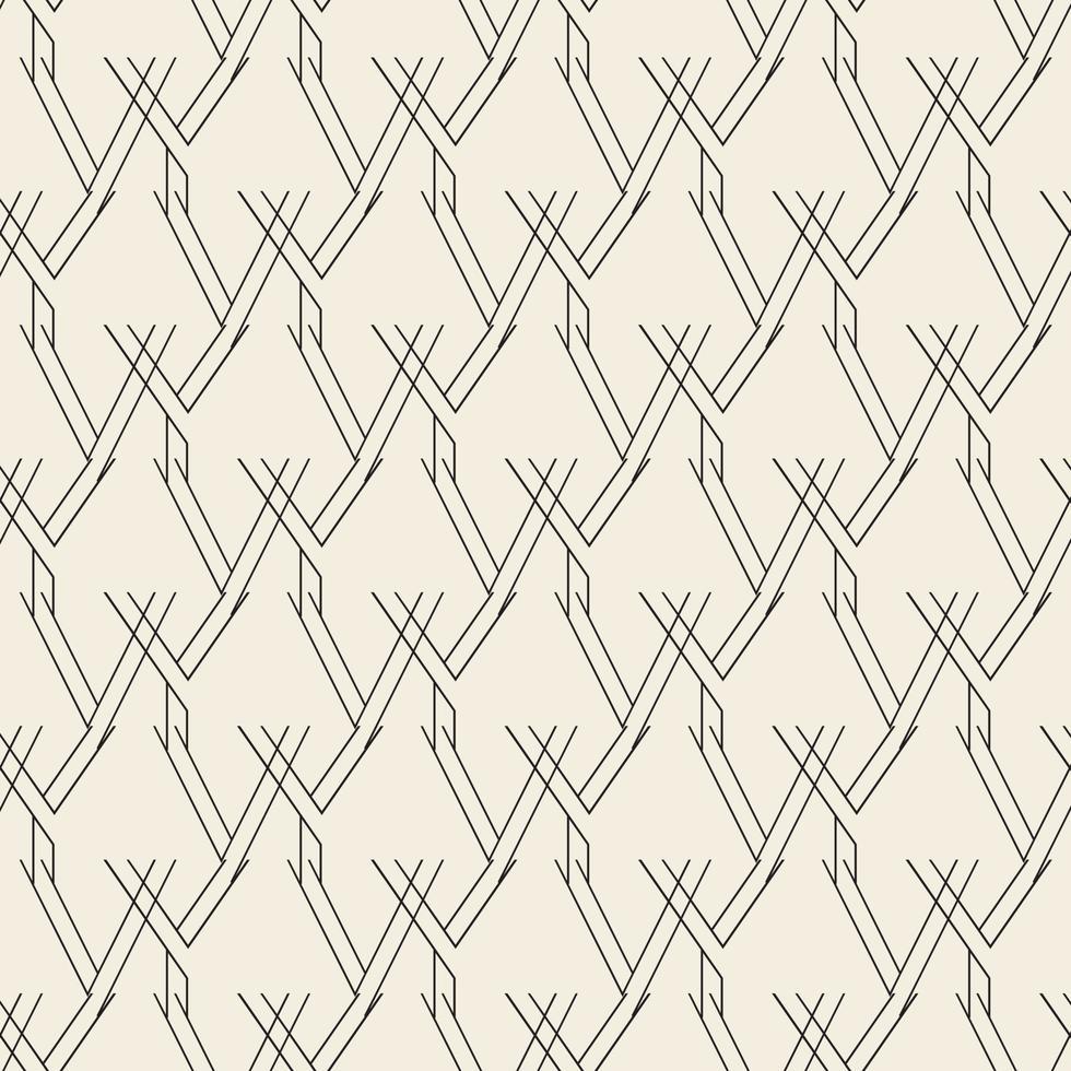 sömlös abstrakt monokrom textur bakgrund från linje vektor