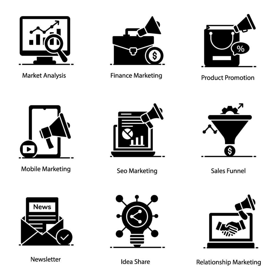 modern marknadsföring och marknadsföring vektor
