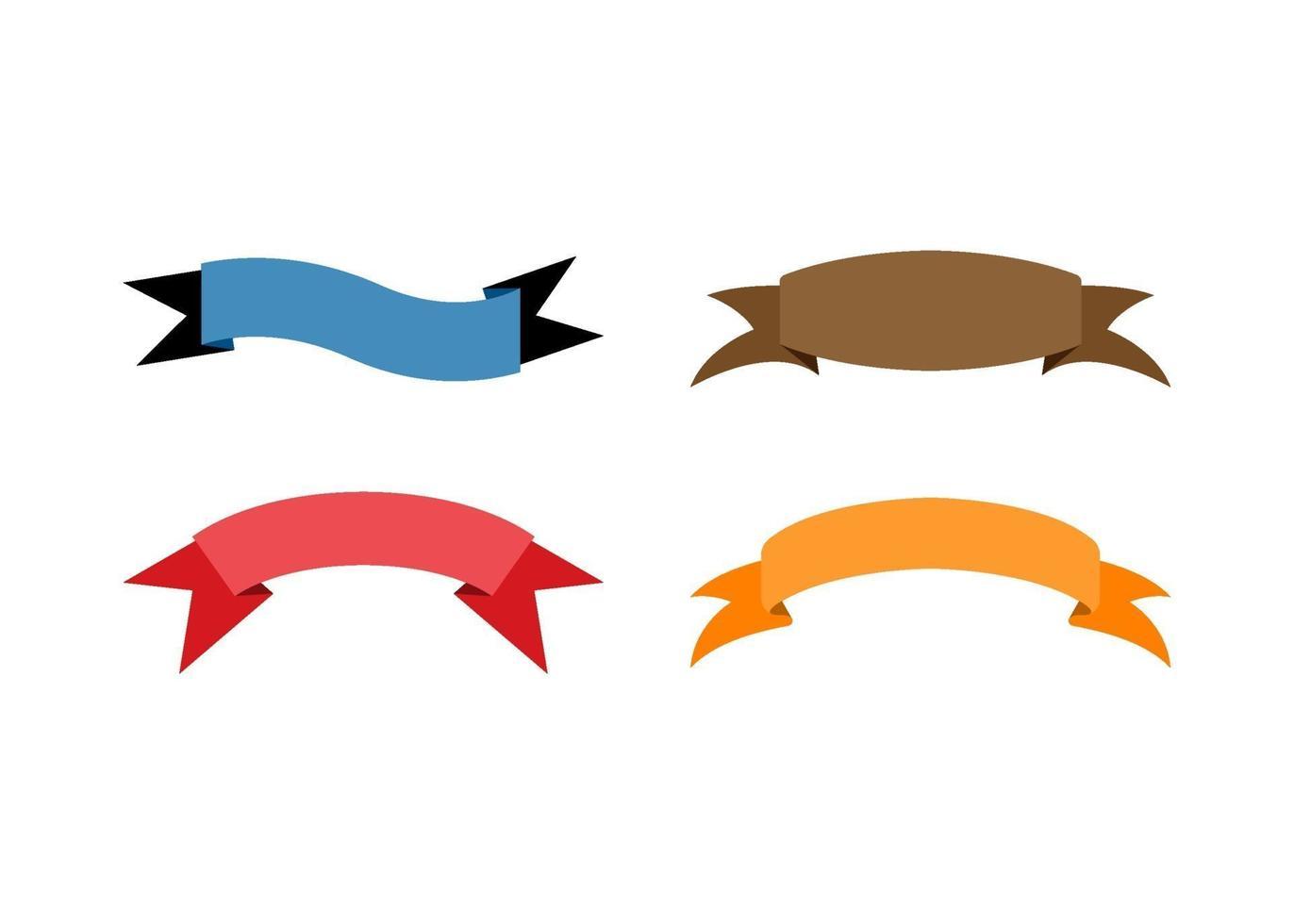 Banner Band Symbol Design Vorlage Vektor-Illustration vektor