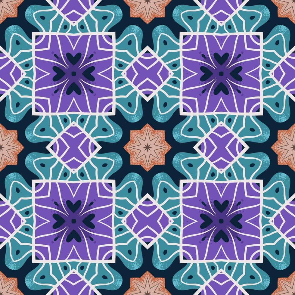 sömlösa mönster med abstrakt mandala dekorativ arabesk illustration. vektor