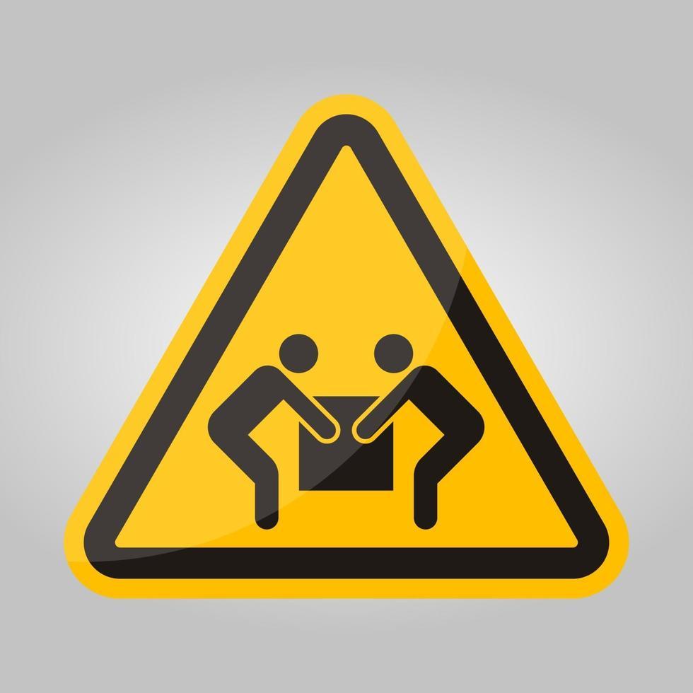 symbol två person lyft tecken isolera på vit bakgrund, vektorillustration vektor