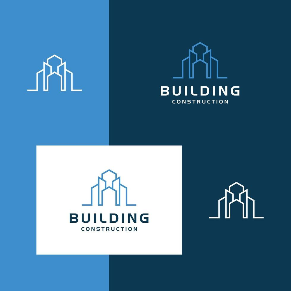 logotyp design byggnad vektor