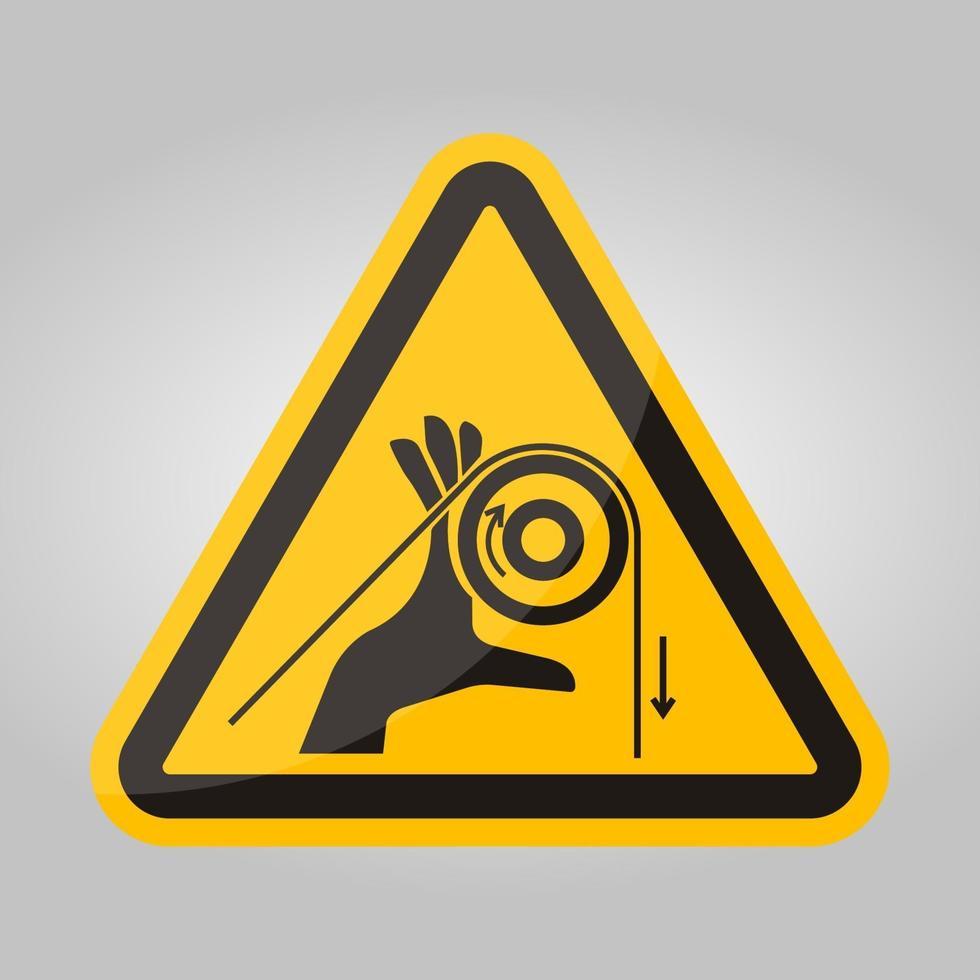 Handverschränkungswalzen-Symbolzeichen, Vektorillustration, isolieren auf weißem Hintergrundetikett .eps10 vektor