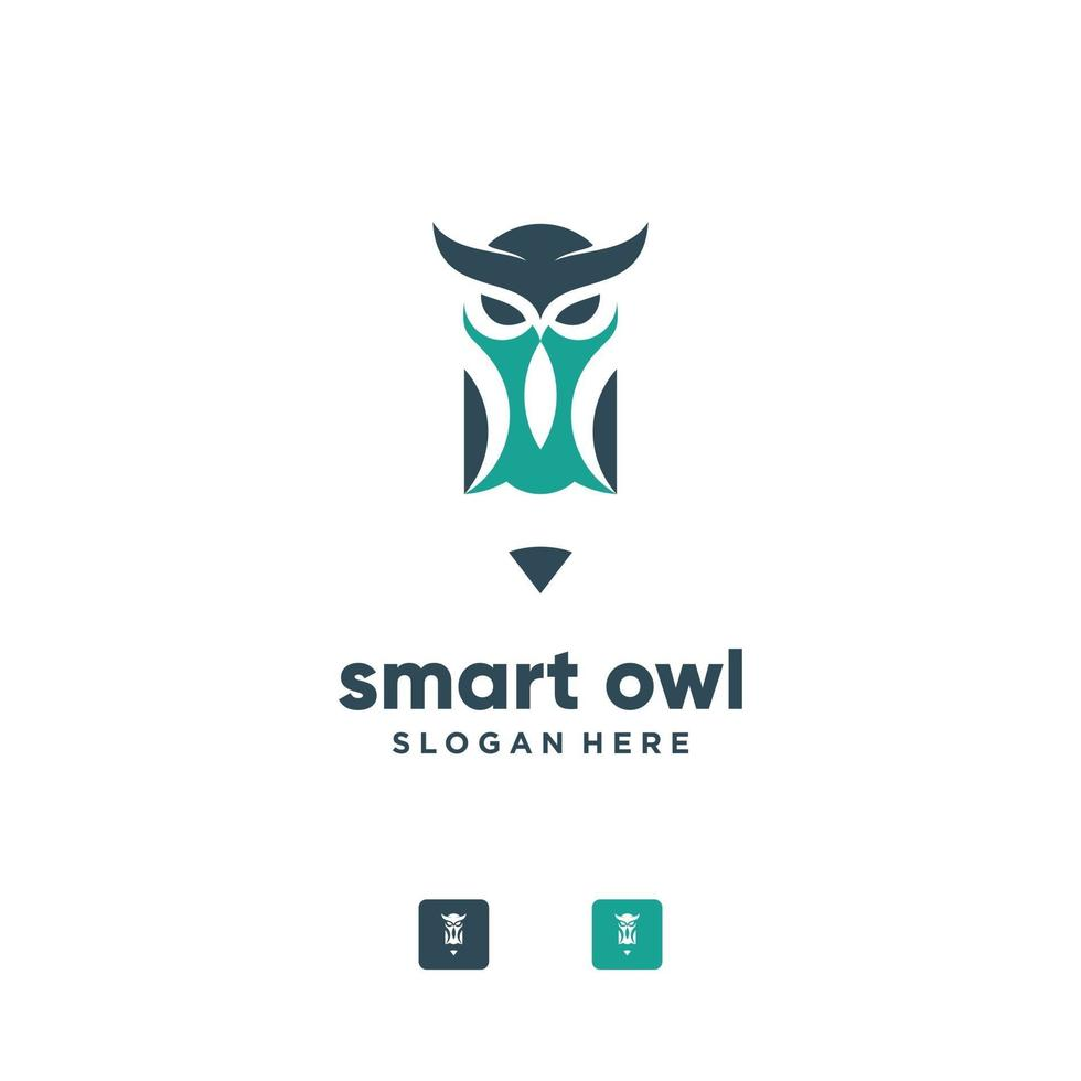 uggla logotyp design vektor