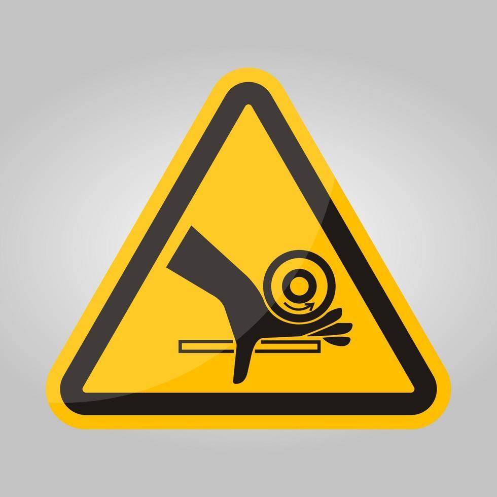 hand krossa rulle nypa symbol tecken, vektorillustration, isolera på vit bakgrund etikett .eps10 vektor