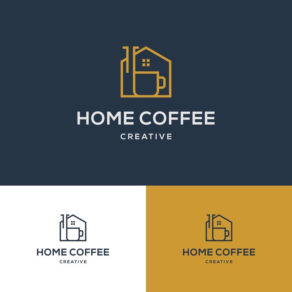 kreativt kaffehuslogotypdesign vektor