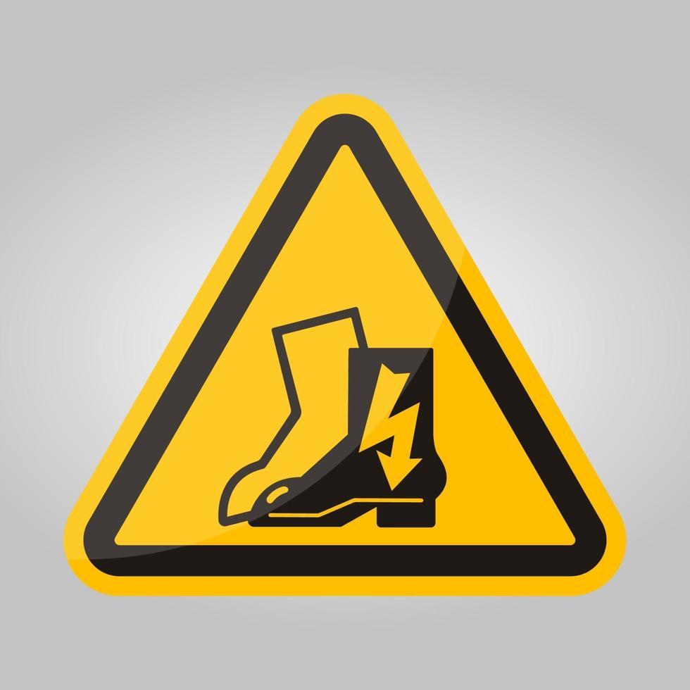 symbol slitage elektriska skor tecken isolera på vit bakgrund, vektorillustration eps.10 vektor