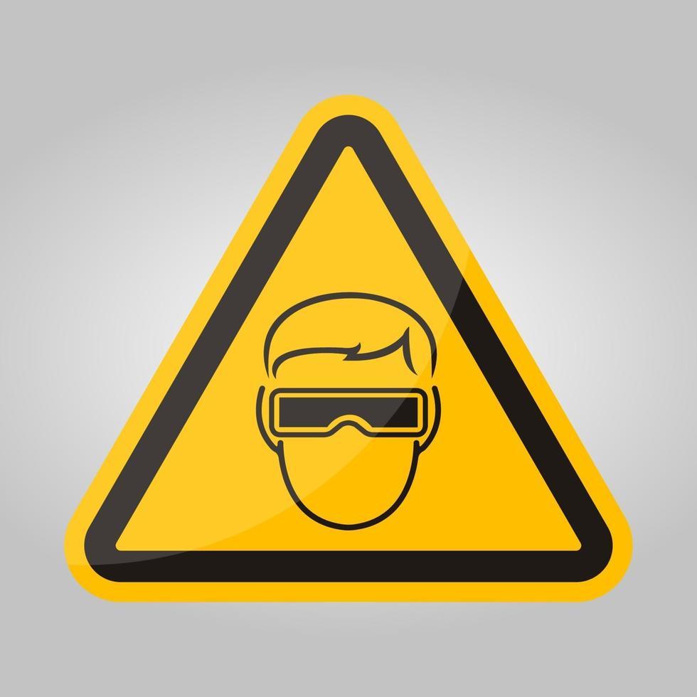 symbol slitage skyddsglasögon tecken isolera på vit bakgrund, vektorillustration eps.10 vektor