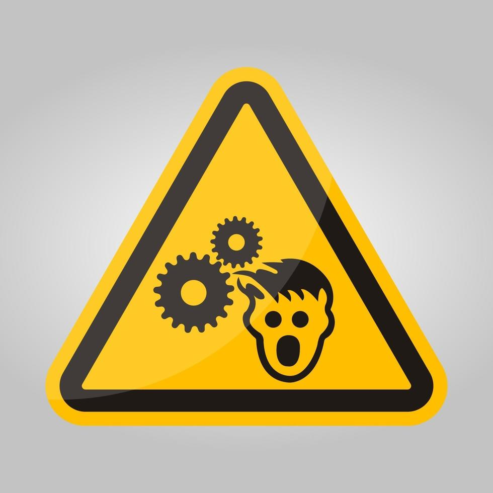 ppe ikon. bär hårnät symbol tecken isolera på vit bakgrund, vektorillustration eps.10 vektor