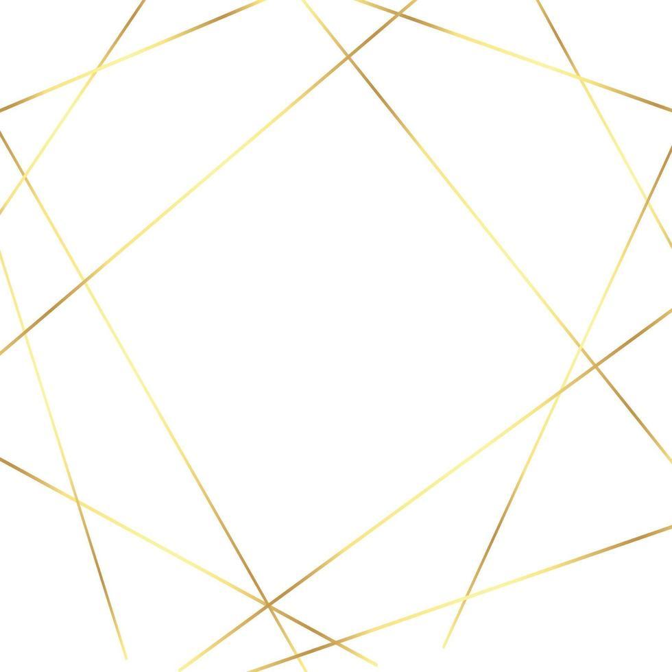 abstrakt vit bakgrund med gyllene linjer - vektor