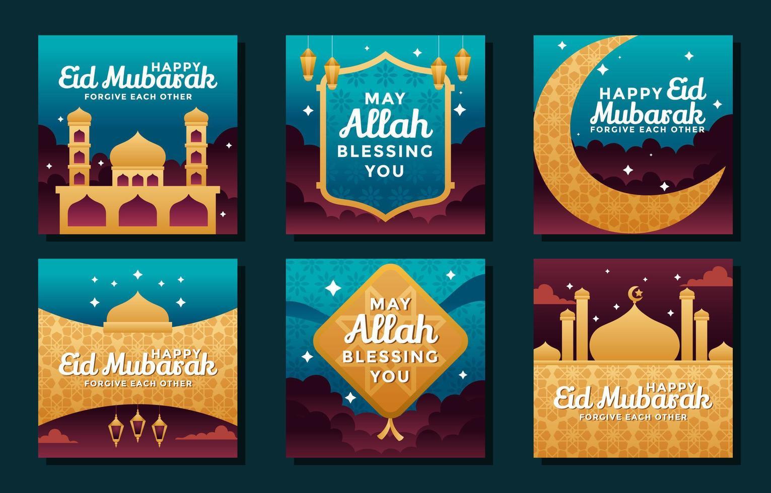 dela välsignelser i den heliga månaden Ramadan vektor