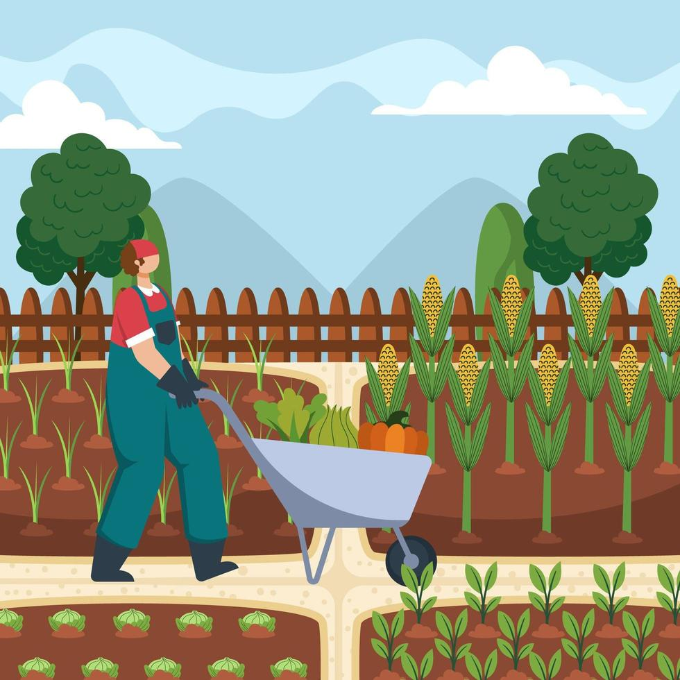 låt oss använda vår fritid för trädgårdsarbete vektor