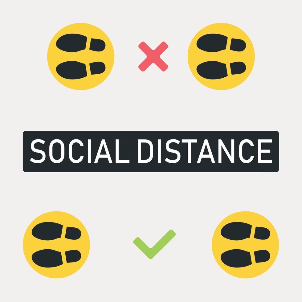 New World Trend soziale Distanz, Pandemie Folgen - Vektor