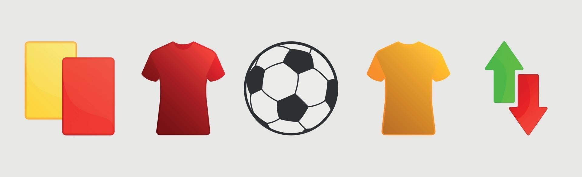 fotbollsutrustning på en vit bakgrund - vektor
