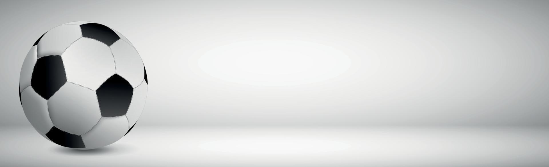 realistischer Fußball auf grauem Hintergrund vektor
