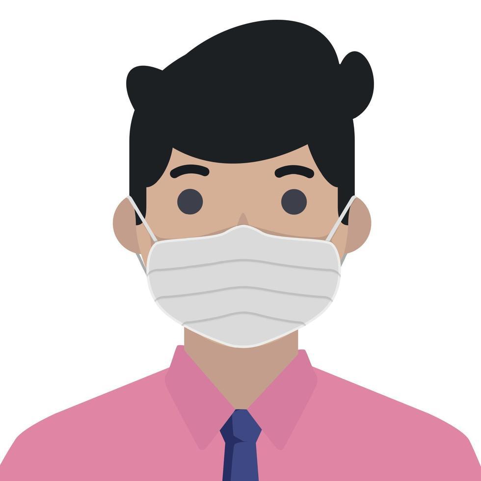 män i steril medicinsk mask - vektorillustration vektor