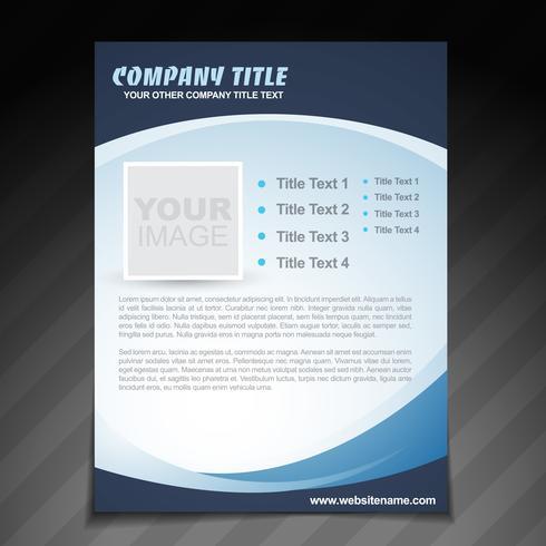 Broschüre für Firmenbroschüren vektor