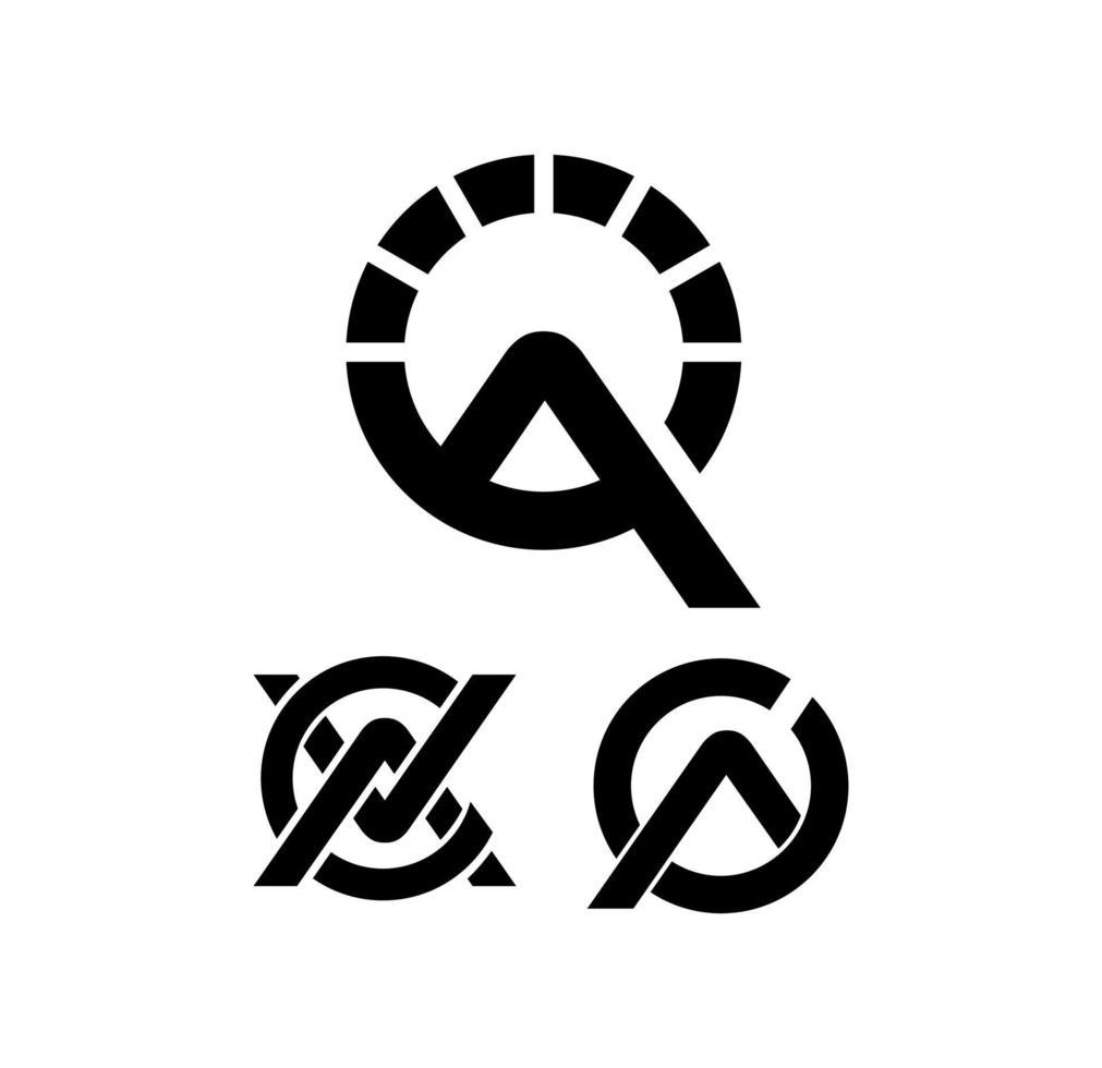 cirkel och geometriska logotyp tecken vektor