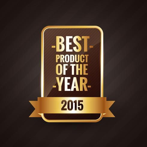 Årets bästa produkt 2015 Golden label design vektor