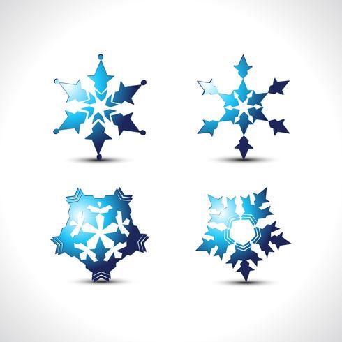 Vektor Schneeflocken