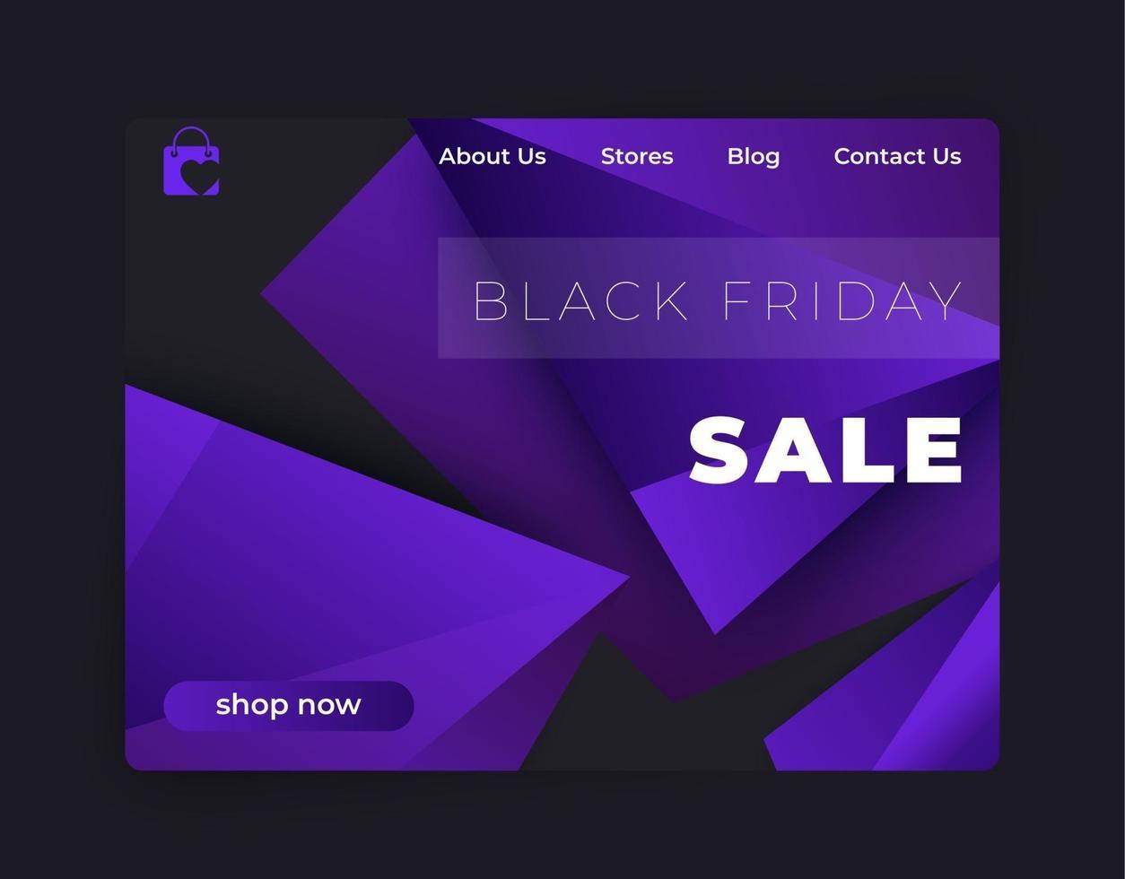 schwarzer Freitag Verkauf, Vektor Banner für Website