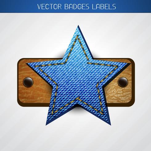 Sterne Label Design vektor