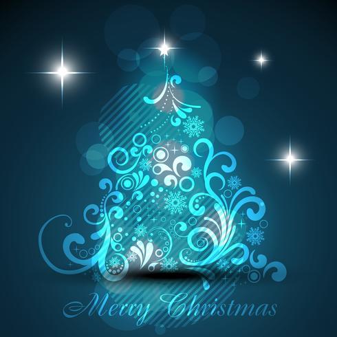 glänzender Weihnachtsbaum vektor
