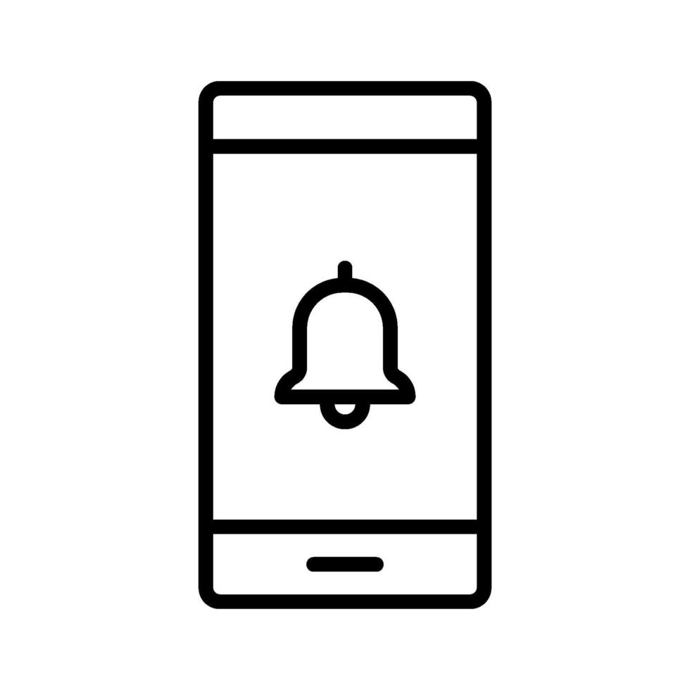 ikon för mobilavisering vektor