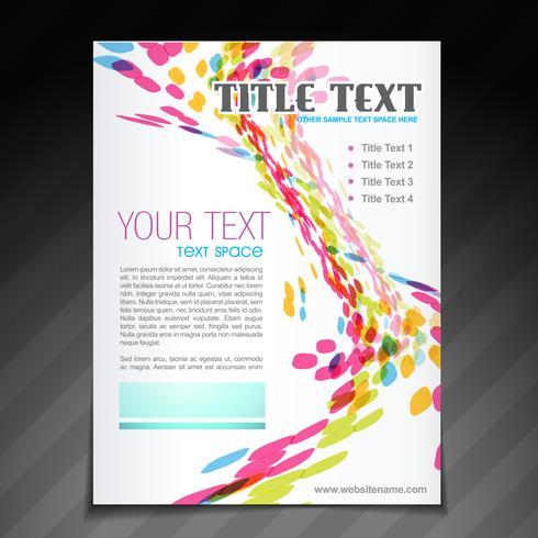 Färgrik våg broschyr flygblad design vektor