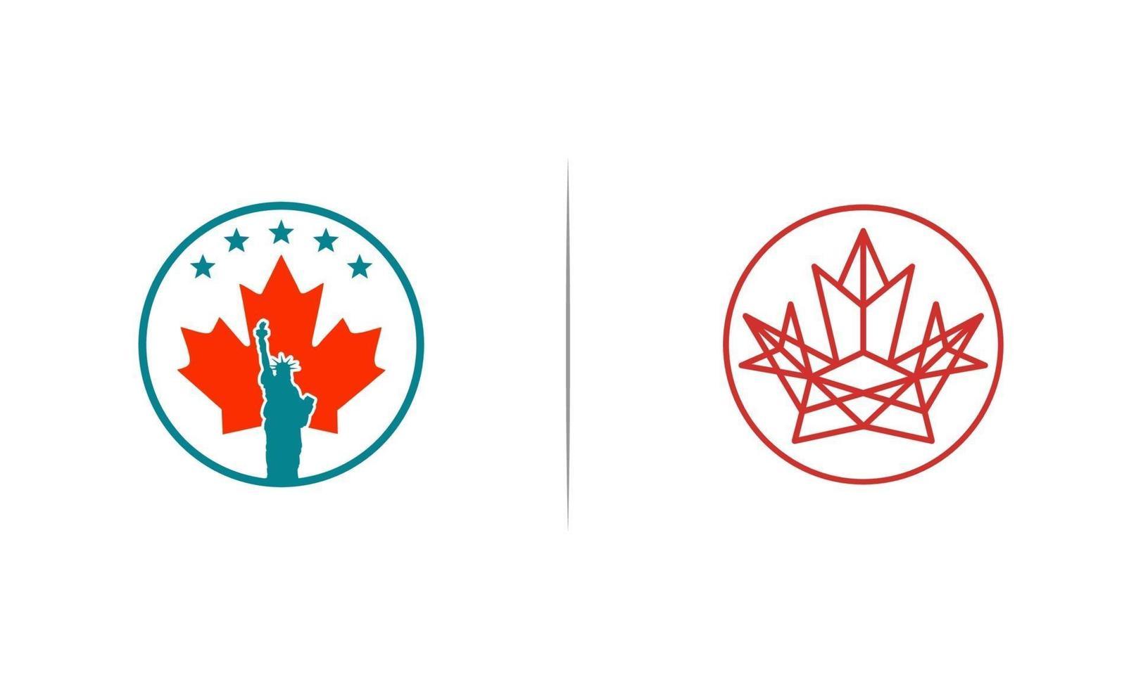 Kanada och USA konsult logo design vektorillustration vektor