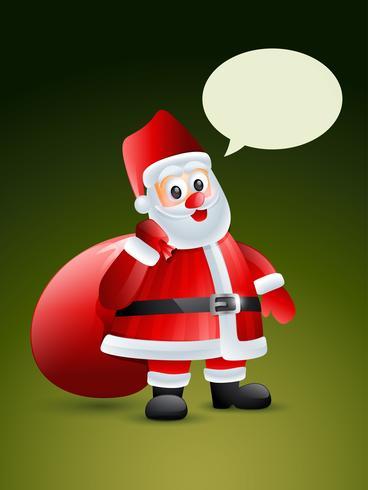 Weihnachtsmann mit Geschenktüte vektor