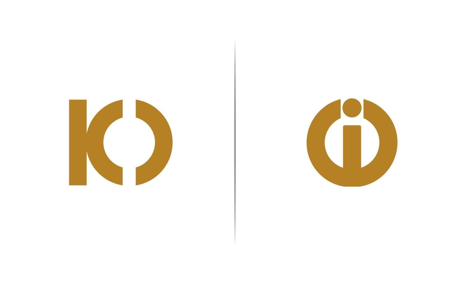 io Brief Logo Vorlage Vektor