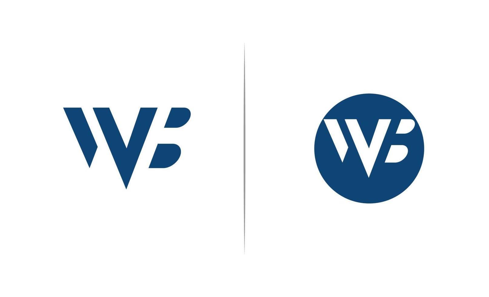 brev wb negativa utrymme logotyp mall vektor