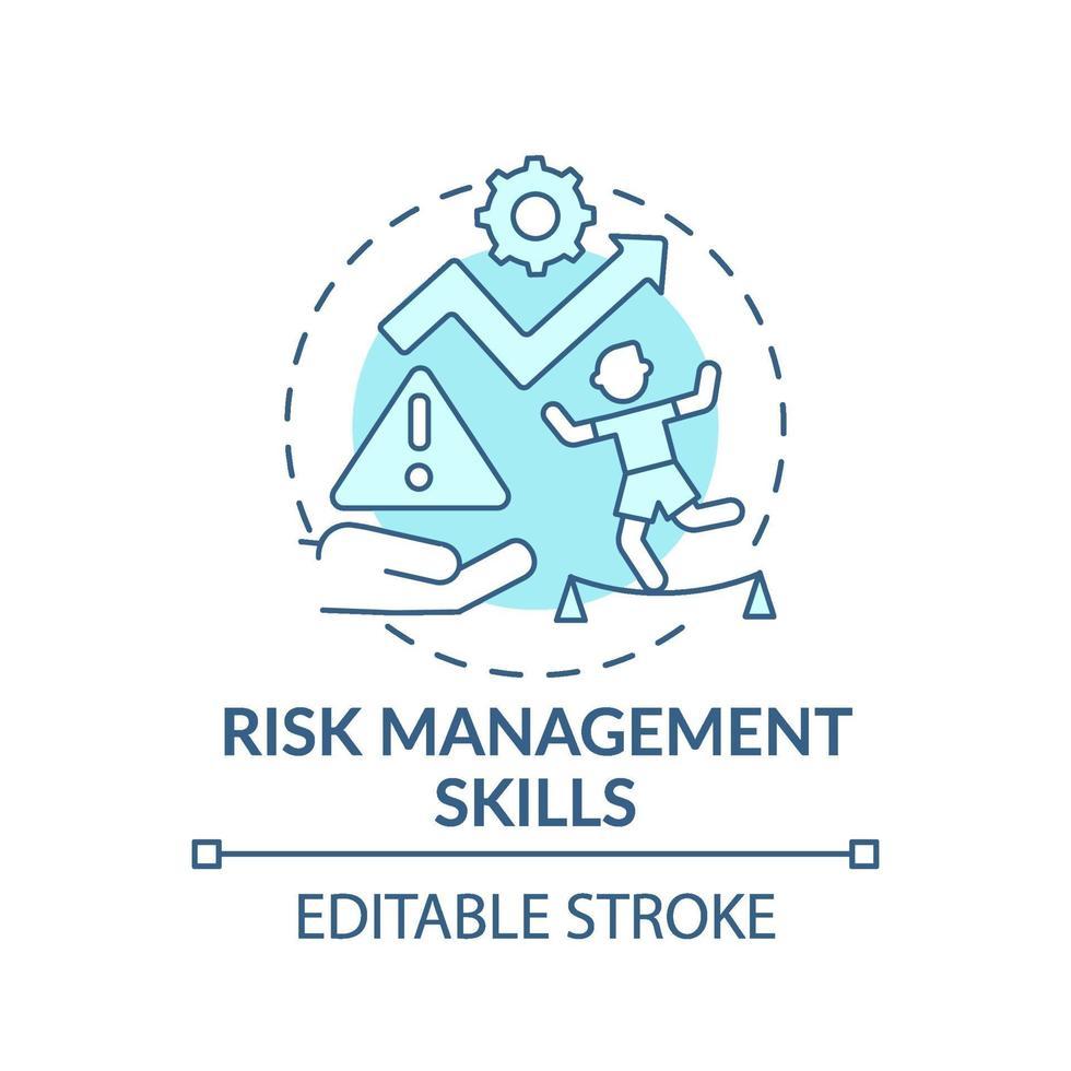blaues Konzeptsymbol für Risikomanagementfähigkeiten vektor