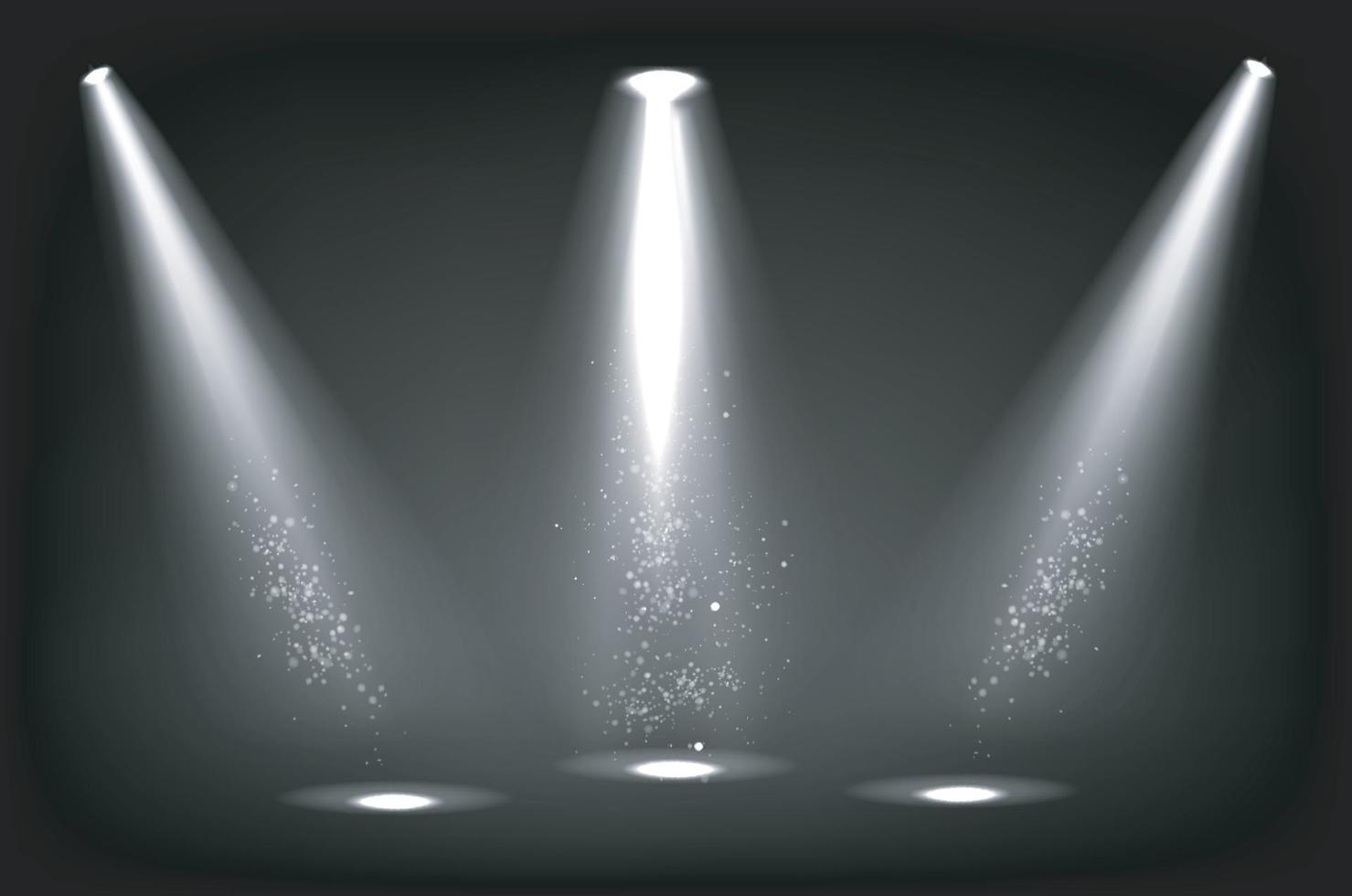 abstrakter Bühnenscheinwerferfokusvektor vektor