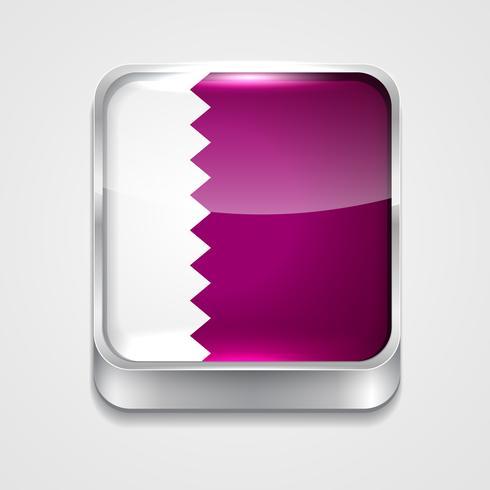 flagga av qatar vektor