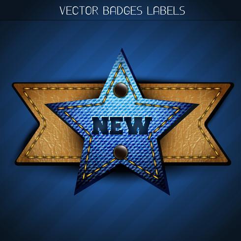 neues Starlabel vektor