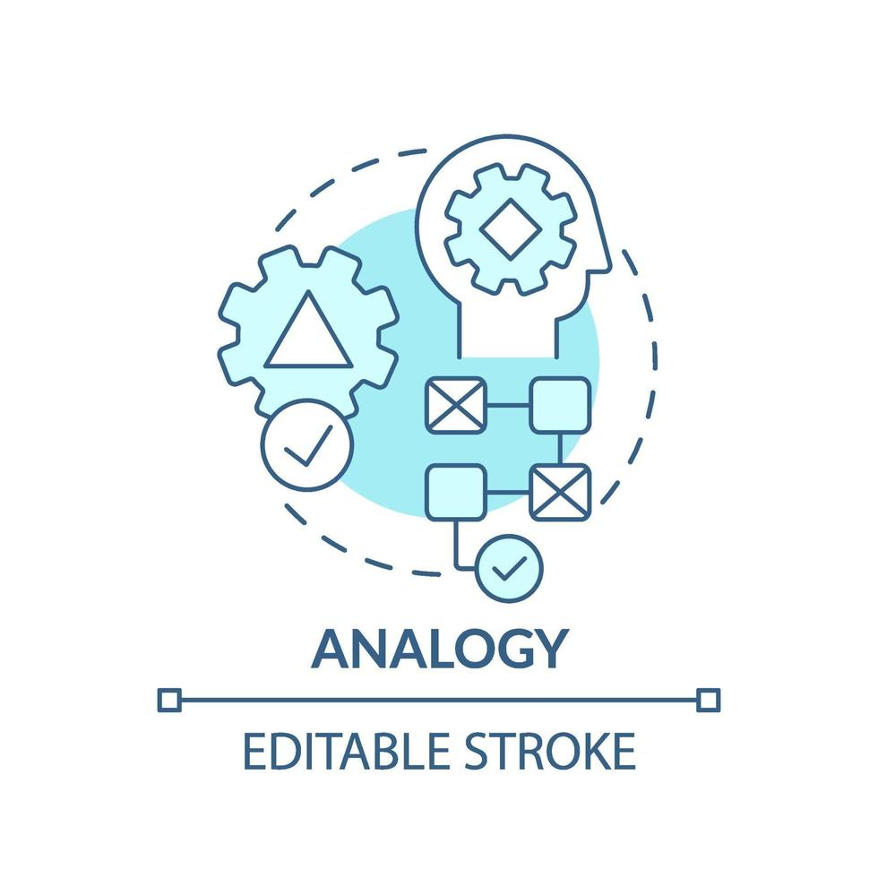 Analogie blaues Konzeptsymbol vektor