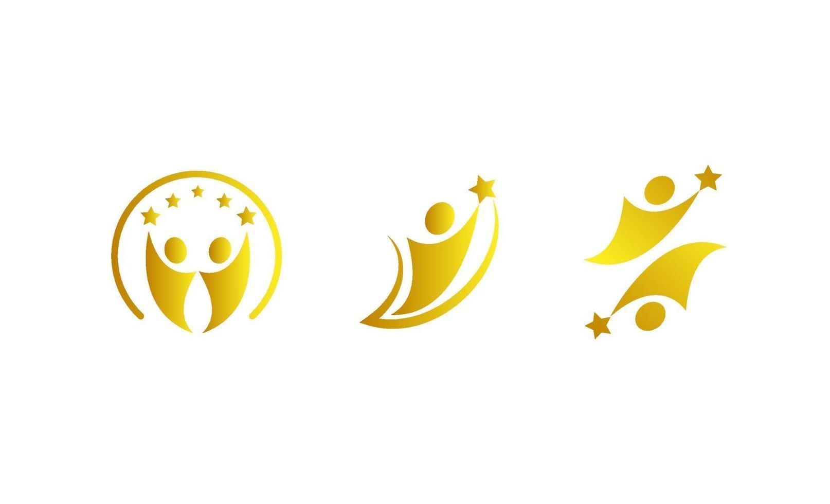 mänsklig get star logo vektor mall illustration
