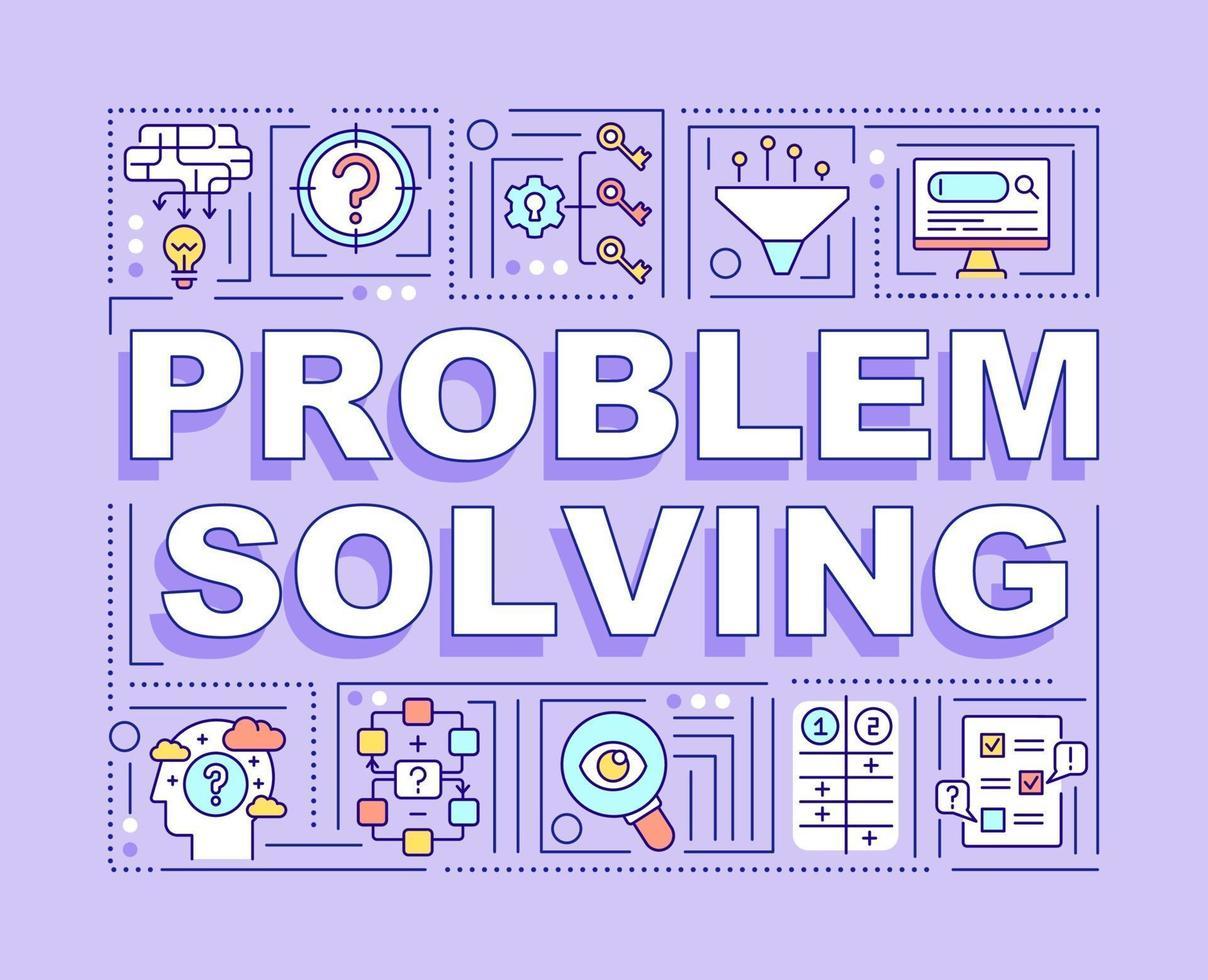 problemlösning ord koncept banner vektor